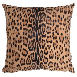 NEW-Cavallino Pillow- Leopard 1014 B- 50x50CM(CPLEO1014BL5050) - ANVOGG FEEL SHEARLING | ANVOGG