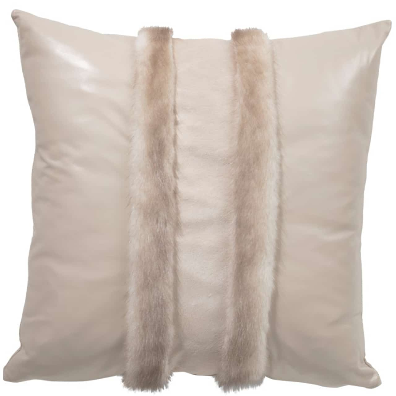 NEW-Mink Pillow- Cream V. 50x50cm (VPFB736ACDL5050) - ANVOGG FEEL SHEARLING | ANVOGG