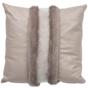 NEW-Mink Pillow- Silver V. 50x50cm (VPLGBSIFD5050) - ANVOGG FEEL SHEARLING | ANVOGG
