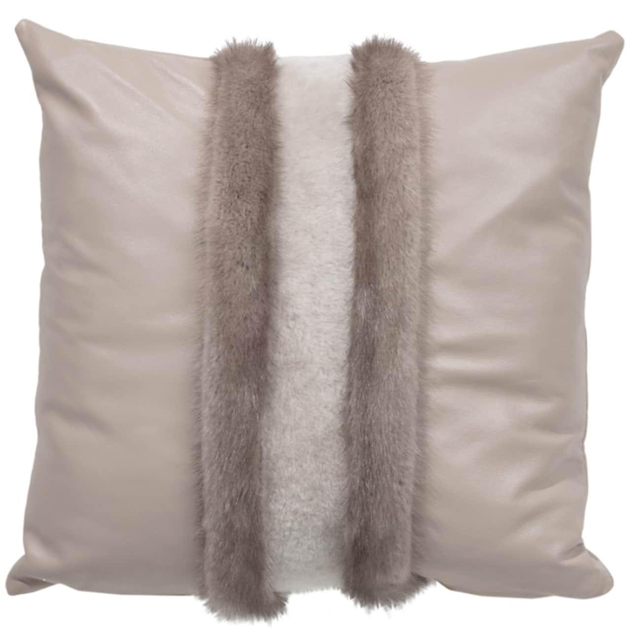NEW-Mink Pillow- Silver V. 50x50cm (VPLGBSIFD5050) - ANVOGG FEEL SHEARLING | ANVOGG