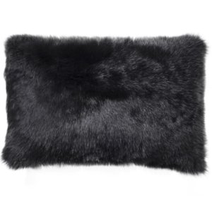 NEW-Shearling Pillow- Black- 35x55cm (SPBLABL3555) - ANVOGG FEEL SHEARLING | ANVOGG
