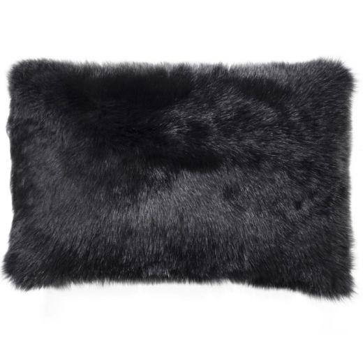 NEW-Shearling Pillow- Black- 35x55cm (SPBLABL3555) - ANVOGG FEEL SHEARLING   ANVOGG