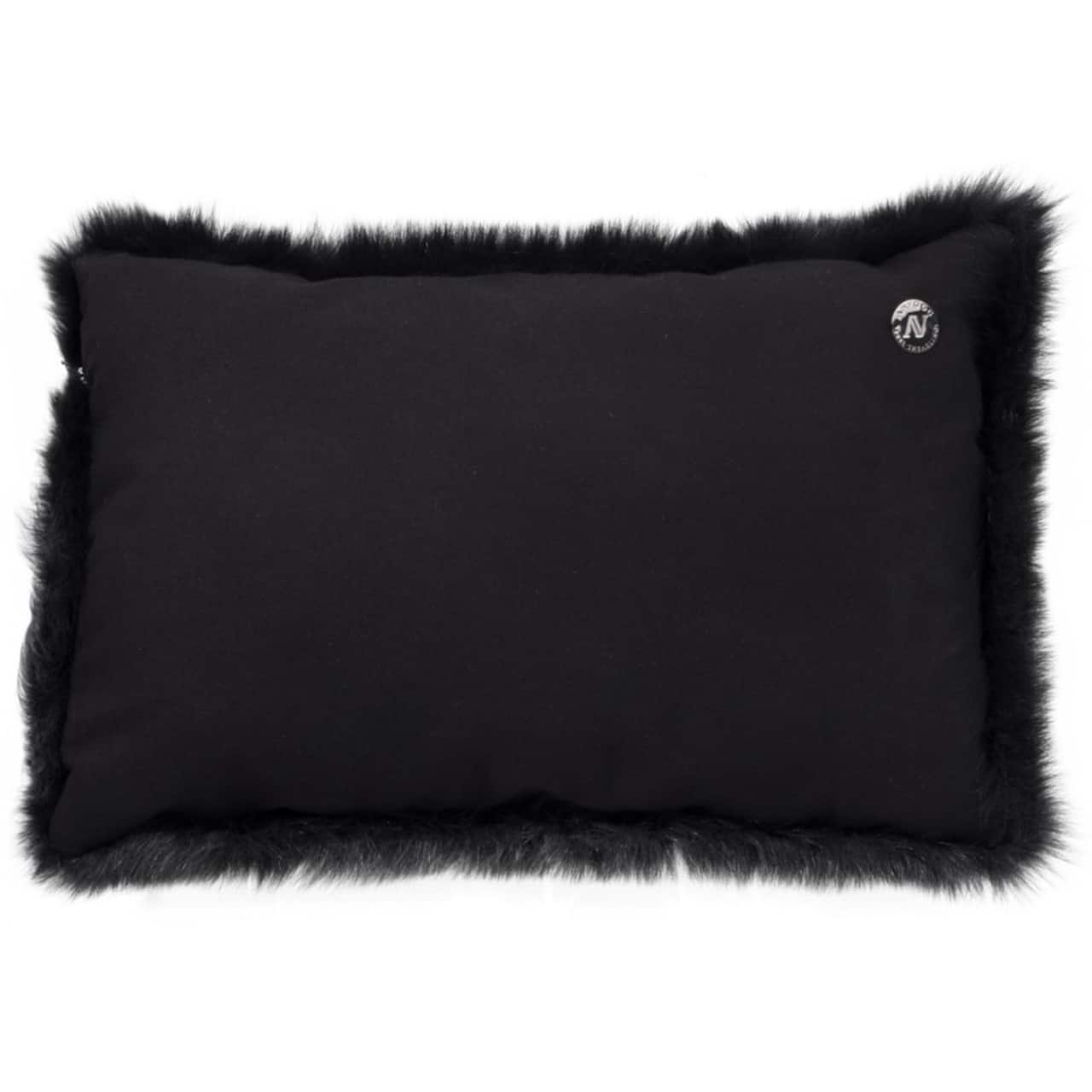 NEW-Shearling Pillow- Black- 35x55cm (SPBLABL3555) arka - ANVOGG FEEL SHEARLING | ANVOGG
