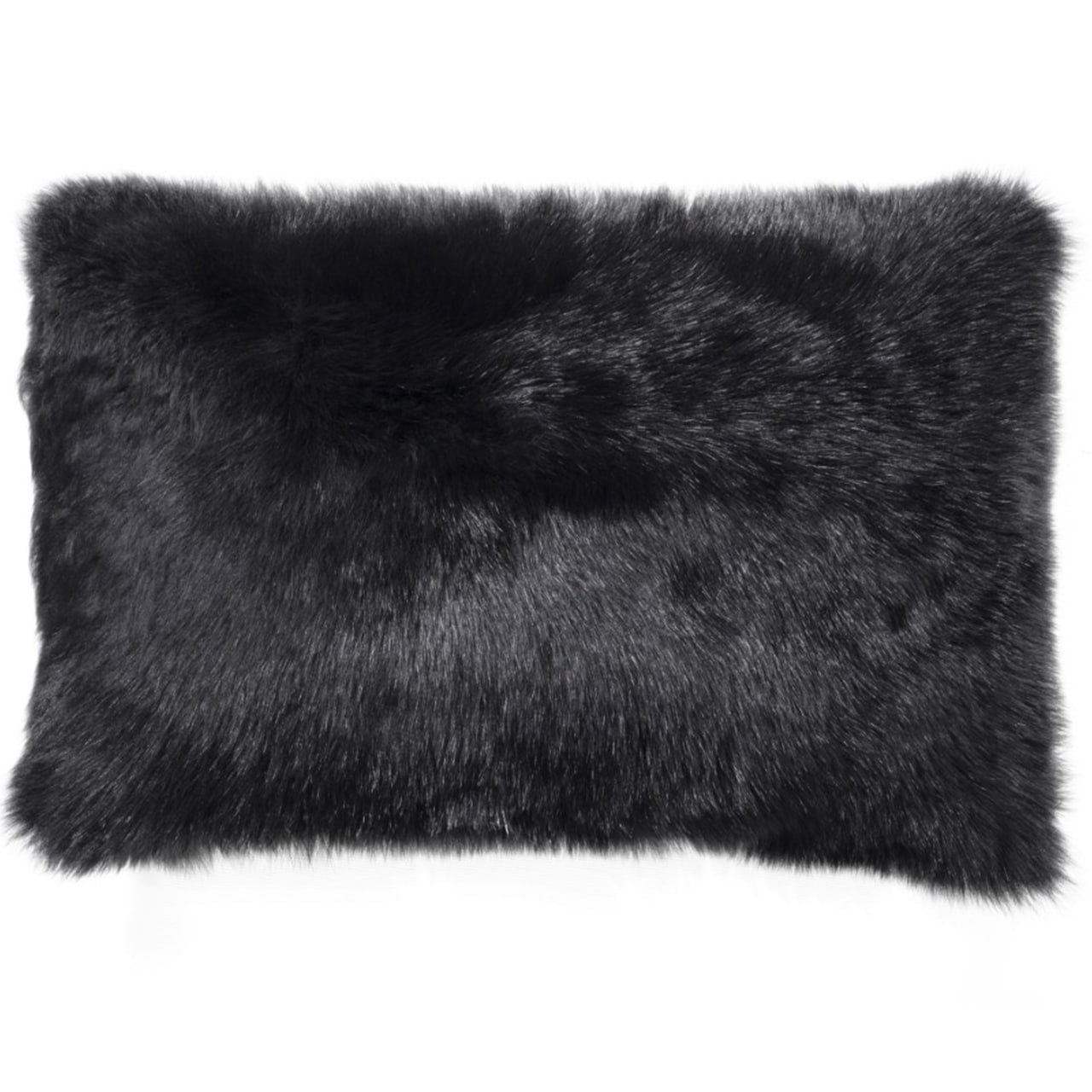 NEW-Shearling Pillow- Black- 35x55cm (SPBLABL3555) - ANVOGG FEEL SHEARLING | ANVOGG