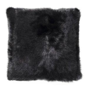 NEW-Shearling Pillow- Black- 45x45cm (SPBLABL4545) - ANVOGG FEEL SHEARLING | ANVOGG