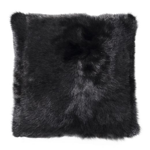 NEW-Shearling Pillow- Black- 45x45cm (SPBLABL4545) - ANVOGG FEEL SHEARLING | ANVOGG