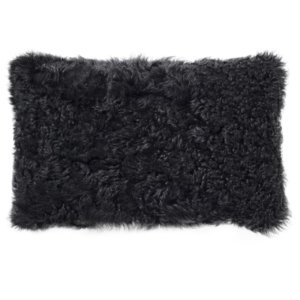 NEW-Shearling Pillow- Black Curly- 35x55cm (TPBLABL3555) - ANVOGG FEEL SHEARLING | ANVOGG