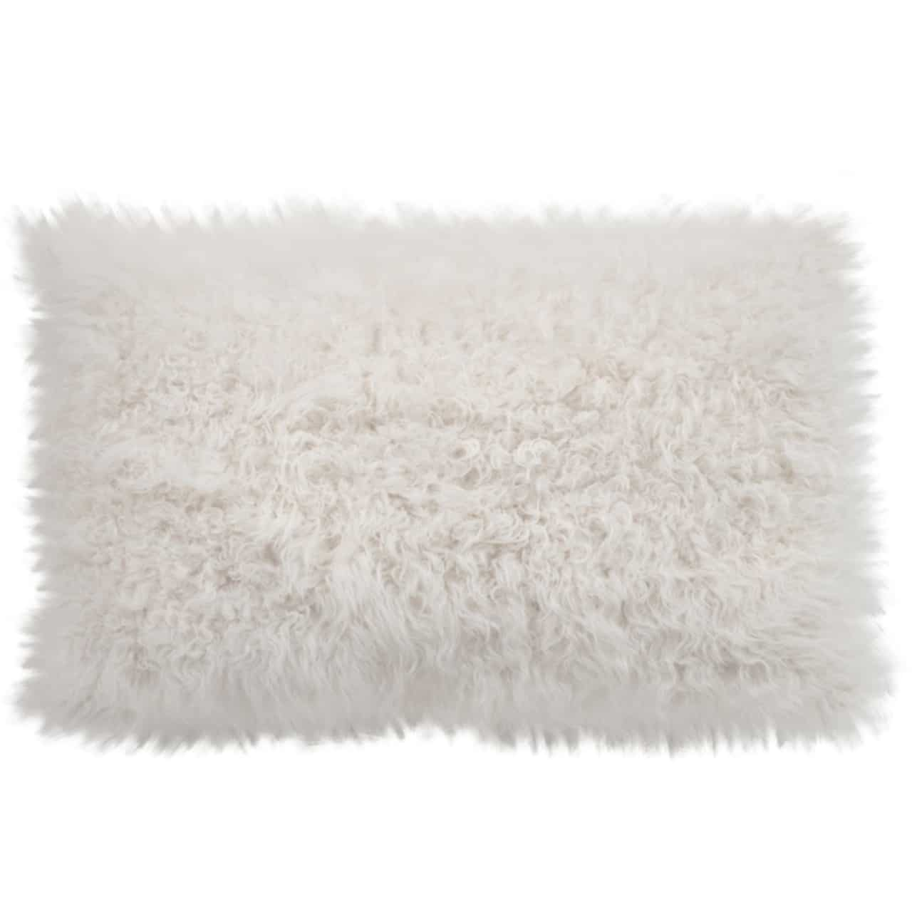 NEW-Shearling Pillow- Ceramic Curly- 35x55cm (TPCERCR3555) - ANVOGG FEEL SHEARLING | ANVOGG