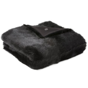 NEW-Shearling Throw-Black-134x150cm (STBLABL134150) - ANVOGG FEEL SHEARLING | ANVOGG
