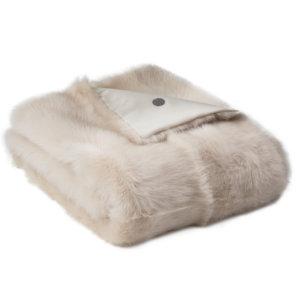 NEW-Shearling Throw-Cream-134x150cm (STCRECR134150) - ANVOGG FEEL SHEARLING | ANVOGG