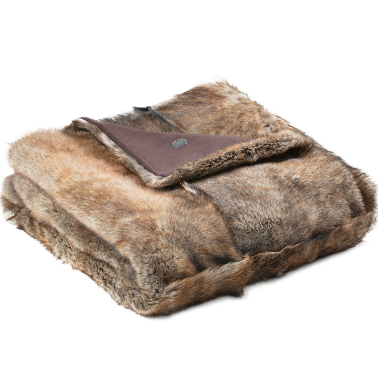 NEW-Shearling Throw- Extra-134x150cm (STEXTBR134150) - ANVOGG FEEL SHEARLING | ANVOGG