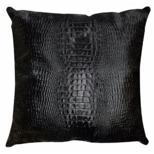 Cavallino Pillow- 50x50cm-(RENK_Croco)- (İSİM_Croco the Squa)(CPCRO20017BL5050) - ANVOGG FEEL SHEARLING | ANVOGG