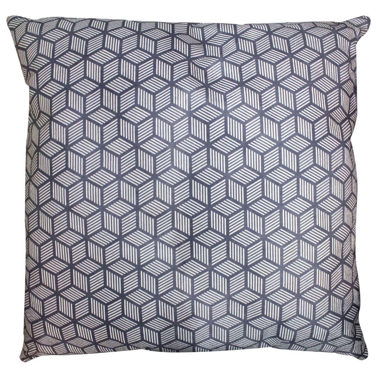 Cavallino Pillow-50x50cm-(RENK_Cube Strips)-(İSİM_Cube Strips The Squa)-(CPCUB1134BBL5050) - ANVOGG FEEL SHEARLING | ANVOGG