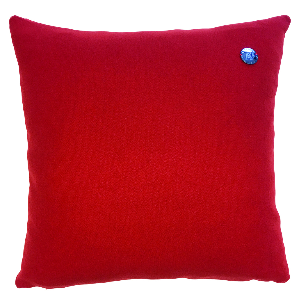 Cavallino Pillow-Vermilion 496-50x50CM-CPRED498RE5050_Back - ANVOGG FEEL SHEARLING | ANVOGG