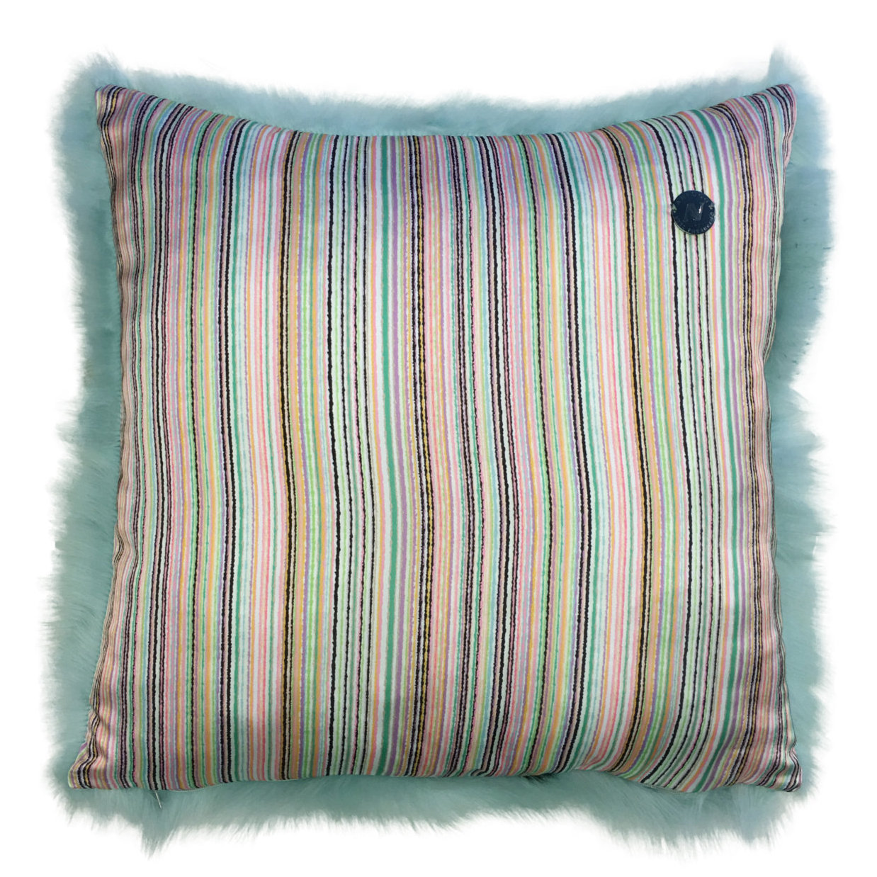 Shearling Pillow-Aqua-50x50cm_SPAQUS3145050-arka - ANVOGG FEEL SHEARLING | ANVOGG
