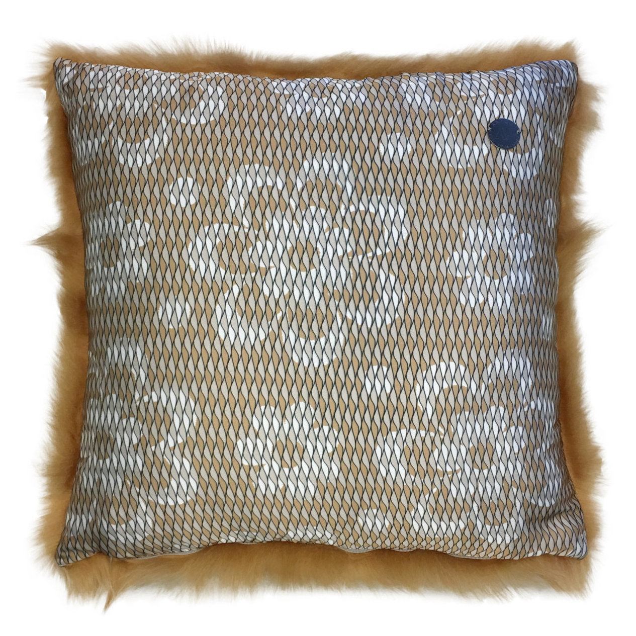 Shearling Pillow-Biscotte-50x50cm-SPBISS2645050-arka - ANVOGG FEEL SHEARLING | ANVOGG
