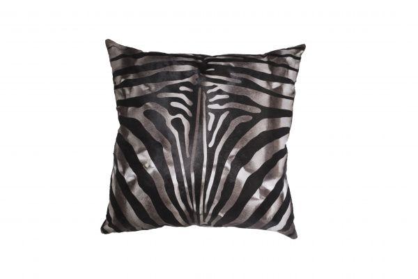 Cavallino Pillow- Zebra 1017 Argo- 50x50cm (CPZEB1017ABL5050) - ANVOGG FEEL SHEARLING   ANVOGG